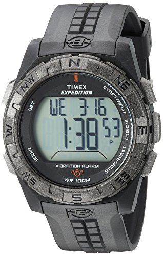 Timex Men's T49851 Expedition Vibrating Alarm Black Resin...