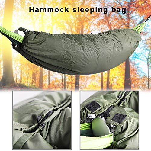 Hete-supply hangmat slaapzak, outdoor hangmat quilt met rits, geïsoleerde thermische top cover voor hangmat, grond camping, 20075CM, (zonder hangmat)