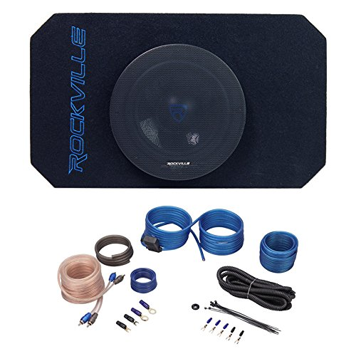 8 inch Tunnel Slot Ported Powered Subwoofer Enclosure and Amp for Jeep Wrangler 87-06