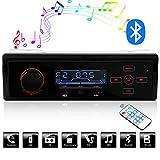 Bluetooth-Autoradio, ieGeek Auto-MP3-Player, UKW- und MW-Radio, Musik-USB/AUX-Freisprecheinrichtung und Integriertes Mikrofon, Freisprechen, Drahtlose Fernbedienung.