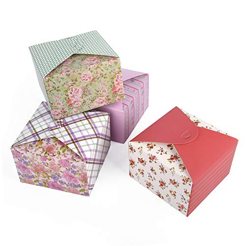 ewtshop® Geschenkdozen, 12 stuks in 4, Cookie Boxen, Decoratieve dozen, Flower Boxen, cadeaudozen