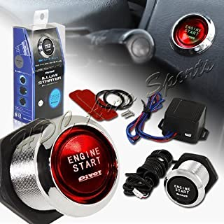 Universal LED Push Engine Start Starter Button Switch Ignition Kit Blue Illumination