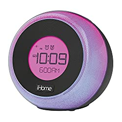iHome Bluetooth Color Changing Dual Alarm FM Clock Radio with Speakerphone & USB Charging, Multicolor - Featuring Melody, Voice Powered Music Assistant (Non-Retail Packaging)