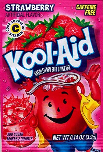 Kool-Aid Soft Drink Mix - Strawberry Unsweetened, Caffeine Free, 0.14 oz/envelope (Pack of 15)