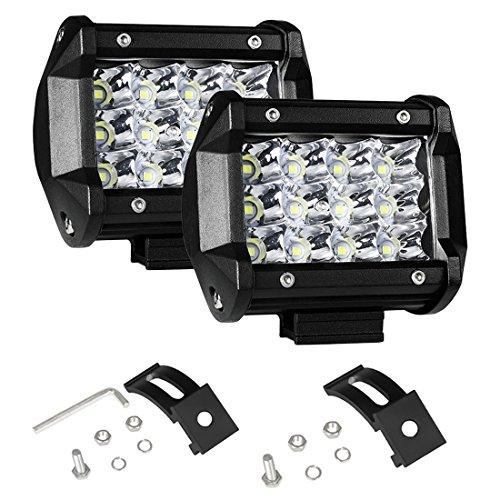 AUXTINGS 2 pezzi 4 pollici 36W Spot Barra luminosa da lavoro Led Luci di Lavoro Fuoristrada a Led per Off Road Moto 4WD SUV ATV UTV Camion