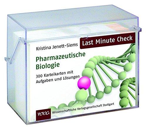 Last Minute Check - Pharmazeutische Biologie: 300 Karteikarten mit Aufgaben und Lösungen