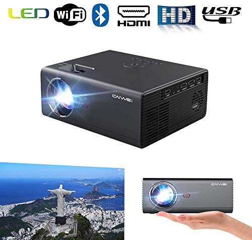 Slimme Wifi Bluetooth-projector Draadloze draagbare LED LCD HDMI Videoprojectoren Wifi Zoom Airplay 720P Native ondersteuning 1080P Draadloos scherm Cast voor smartphone Laptop TV DVD Roku Gaming Movie Outdoor