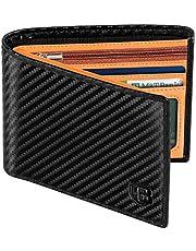 Cartera Hombre, BIAL RFID Cuero Billetera Hombre Piel, con 8 Ranuras para Tarjetas De Crédito 2 Ventanas De Identificación Tarjetas Cartera para Hombre Monedero Hombre Caja De Regalo Negro MARRóN