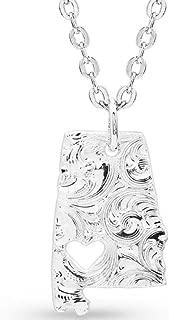 alabama heart necklace