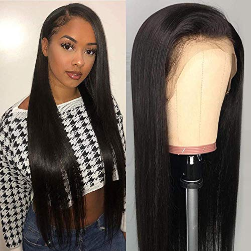 Lace Front Wigs Human Hair for Black Women 150% Density 9A Brazilian 13×4 Viennois Straight Human Hair Lace Front Wigs Pre Plucked with Baby Hair Natural Hairline Wigs(28inch)