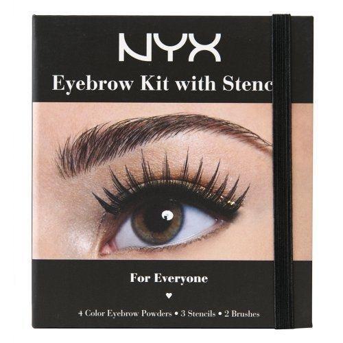 Luxforia's NYX cosmetics eyebrow kit with stencil