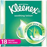 Kleenex Lotion Facial Tissues with Aloe & Vitamin E, Cube Box, 75 Count per Cube Box, Pack of 18, (75 Count (Pack of 18))
