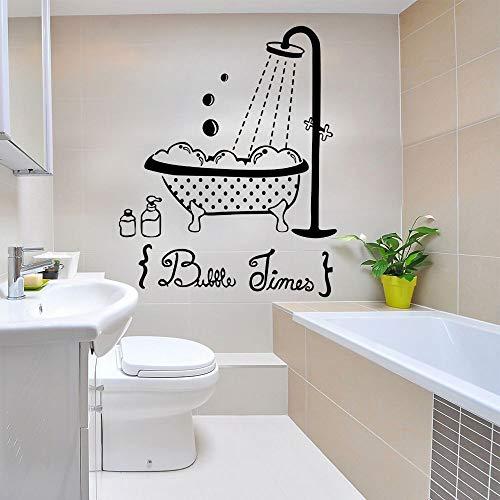 Dwzfme Pegatinas de Pared Etiqueta engomada de la Historieta de la Ducha de la bañera del niño Etiqueta engomada del Vinilo de la Pared Etiqueta Impermeable decoración del baño extraíble 51x63cm
