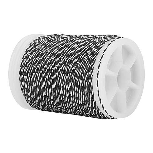 Ke enso String Serving Thread Langlebig für Bowstring Bogenschießen Zubehör 120m (Schwarz + Weiß)(Hellgrau)