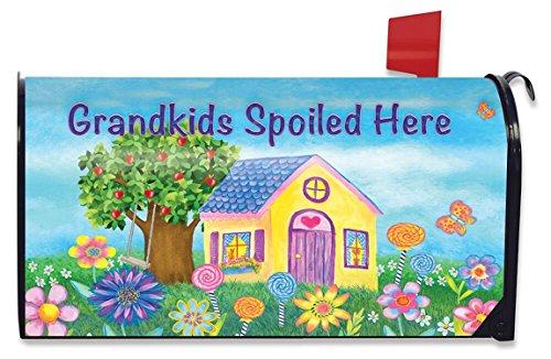 Kleinkinderen verwend hier lente brievenbus cover Floral standaard Briarwood Lane