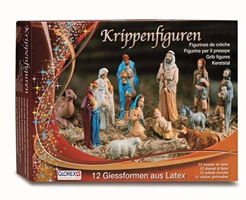 Glorex Latex Nativity Figures Set, Other, Multi-Colour, 31 x 22 x 6.5 cm