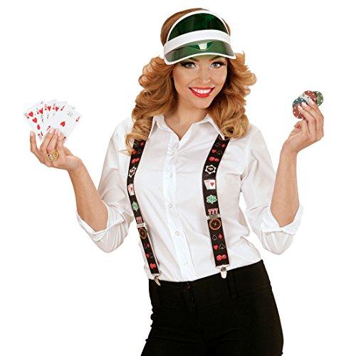 Amakando Elásticos de Casino Tirantes Jugador de póquer Sujeciones Hombre Las Vegas Disfraz de Cartas de póker Suspensores Blackjack Cintas en Forma Y para Sujetar Pantalones