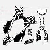Black & White Slick Graphics Kit fit Suzuki DRZ400SM Drz400s drz400 Supermoto DRZ
