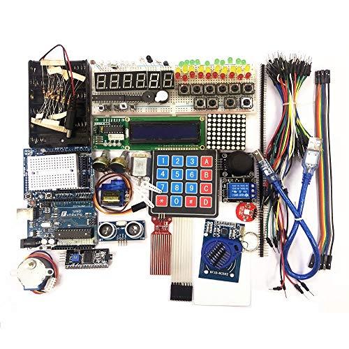 DTOYZ Starter Kit Für Arduino UNO R3 - UNO R3-Breadboard Und Halter Step Motor/Servo / 1602 LCD/Jumper Wire/UNO R3 (Color : No Box)
