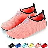 LANSEYAOJI Chaussures Aquatique Homme Femme Enfant Eté Léger Chaussures d'eau Séchage Rapide Pieds Nus Chaussures de Plage pour Sport Aquatique Piscine et Plage Surf Plongée Natation Yoga,EU26-45
