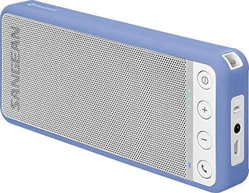 Sangean BLUTAB BTS-101 tragbarer Bluetooth-Lautsprecher (Bluetooth 4.0, NFC, Freisprechfunktion, AUX-IN) blau