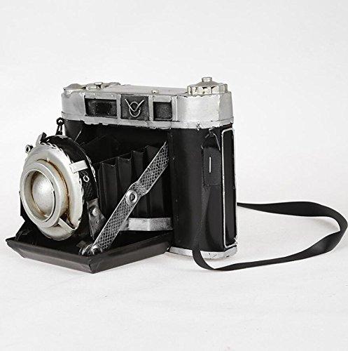 LD&P Retro cámara de hierro viejo objeto modelo adornos hacer accesorios de fotografía antigua retro cámara modelo colección de los amantes de la casa artesanías decoración de la barra,black,14*20*14cm