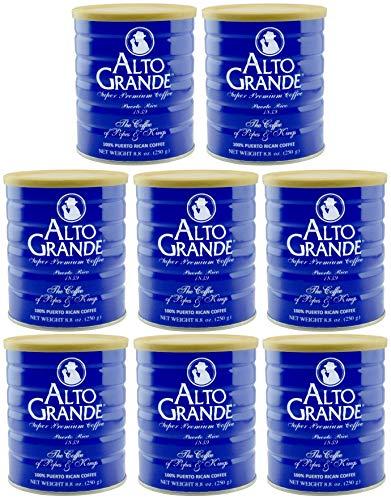 Alto Grande Super Premium Coffee Ground 8.8 Ounces - 8 cans