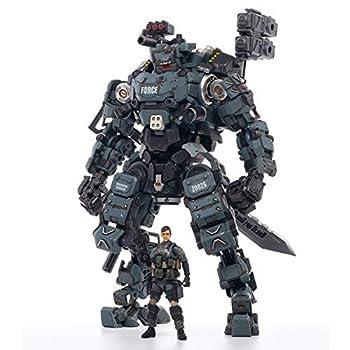 JOYTOY 1/25 Action Figures Steel Bone Mecha Armor Anime Figure Collection Modern Military Model Dark Source Toys  Blue Mecha