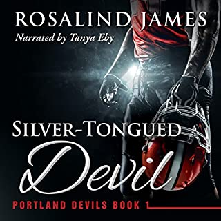 Silver-Tongued Devil     Portland Devils, Book 1              By:                                                                                                                                 Rosalind James                               Narrated by:                                                                                                                                 Tanya Eby                      Length: 12 hrs and 20 mins     817 ratings     Overall 4.4