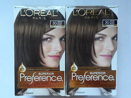 L'Oreal Superior Preference - 5G Medium Golden Brown (Warmer) 1 Each (Pack of 2)
