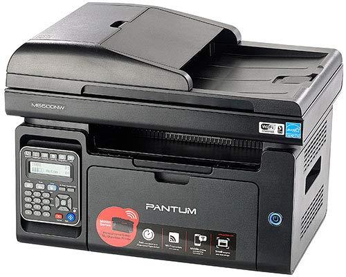 Impresora Multifunción Pantum M6600N Laser Monocromo 4 en 1 (Impresora, Scaner, copiadora y fax) 256MB, A4 -ADF- 1200X1200-22 ppm - 250 Hojas -GDI -USB 2.0, Tarjeta Red, WI-Fi