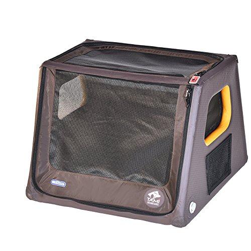 SUPwave Tami - Hundetransportbox aufblasbar Tragebox Transportbox Hundebox Reisebox Autotransportbox Kofferraumbox Gitterbox Käfig Hund Box Dogbox Inflatable inkl. Dog-Vital Bio-Hundekeks (M)