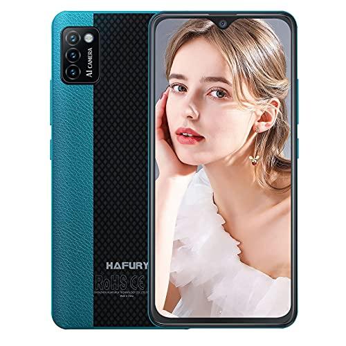 Hafury Smartphone Offerta del Giorno, 4G Dual SIM Telefoni Cellulari, 5,5 Pollici HD Schermo, Batteria da 3100mAh, 16GB RAM, 128GB Espandibile, 13MP Triple Fotocamera, Android 10-Verde