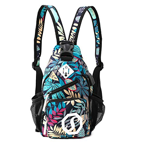 Galmaxs7 Mini Sling Backpack, Multipurpose Crossbody Bag Travel Hiking Daypack