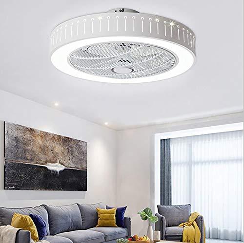 JJXD Moderno Ventilador De Techo con Luz para El Baño Interior, LED...