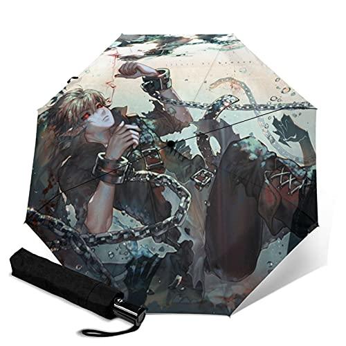 Legend Zelda Automatischer Dreifach-Regenschirm zum Schutz der Sonnencreme, stabiler Winddicht, Automatik-Knopf, Unisex