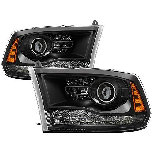 Jdragon – Faros delanteros LED negros para Dodge 2013-2018 Ram 1500 2500 3500 para modelos de proyector…