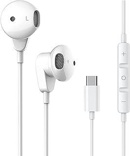 Cuffie USB C, In-Ear Auricolari Type C, HiFi Stereo Bass Noise Cancelling Auricolari con microfono e controllo del volume per Huawei P20 pro/ 30 pro/P40,Google Pixel 2/3/4/XL,Samsung S20/S21/Sony