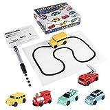 urjipstore Enlighten Magic Pen Inductive Car Children's Train Tank Toy Car Draw Lines Induction Rail Track Car Kids