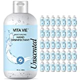 Vita Vie Moisturizing Hand Disinfectant, Unscented, 35-Pack Bulk Hand Sanitizer, 8 oz Bottles