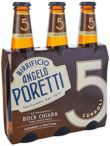 Poretti Bock Chiara Doppio Malto, 3 x 330ml