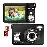 2.7Kデジカメ デジタルカメラ コンパクトカメラ 4800万画素数 YouTubeカメラ 充電式 2.7インチ 16倍デジタルズーム 初心者向け ポケットカメラ 備用バッテリー付き 日本語説明書