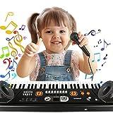 Klaviertastatur 61 Tasten, Musik Klaviertastatur Mini Keyboard Tragbare Tastatur Musikinstrument für Einsteiger Geschenk -