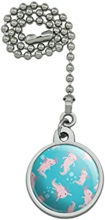 GRAPHICS & MORE Cute Axolotl Mexican Walking Fish Ceiling Fan and Light Pull Chain