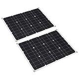 Jinyi Regolatore di Carica Solare, Pannello Solare in silicio monocristallino 80W per batterie per Auto per per Escursionismo per Nave per Campeggio per Esterni