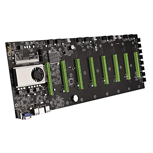 BTC-D37 Miner Motherboard CPU Set 8 ranura para tarjeta de vídeo DDR3 interfaz VGA integrada bajo consumo de energía, soporte 1066/1333/1600 MHz