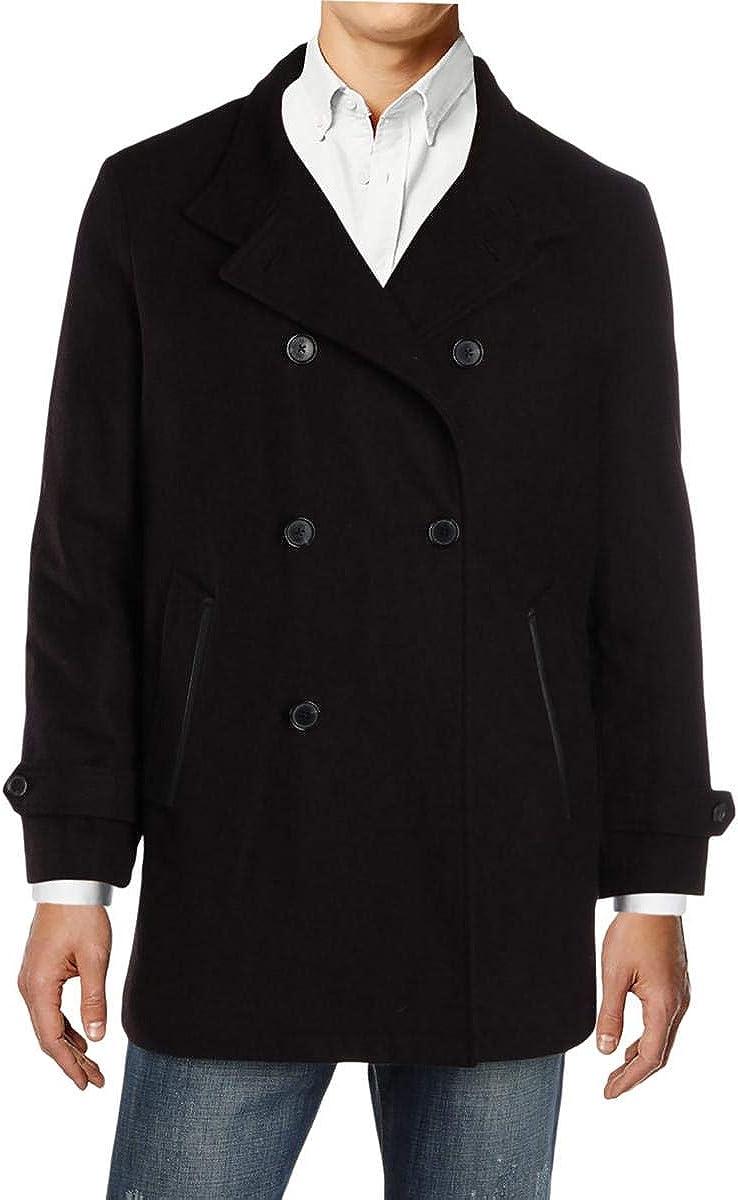 I-N-C Mens Double-Breasted Parka Coat