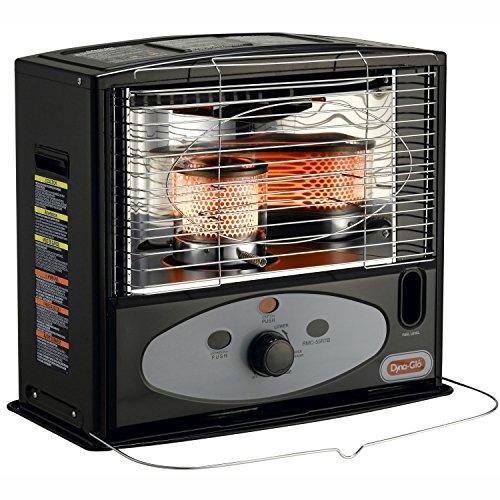 Dyna-Glo RMC-55R7B Indoor Kerosene Radiant Heater, 10000 BTU, Black