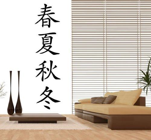 Wandtattoo China - Die Vier Jahreszeiten Nr.89 Wandaufkleber Wandmotiv Größe: 1,20m x 0,30m