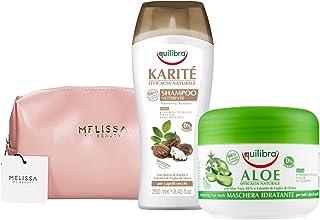 EQUILIBRA Kit : Karité Shampoo Nutriente - Aloe Maschera Idratante + Pochette